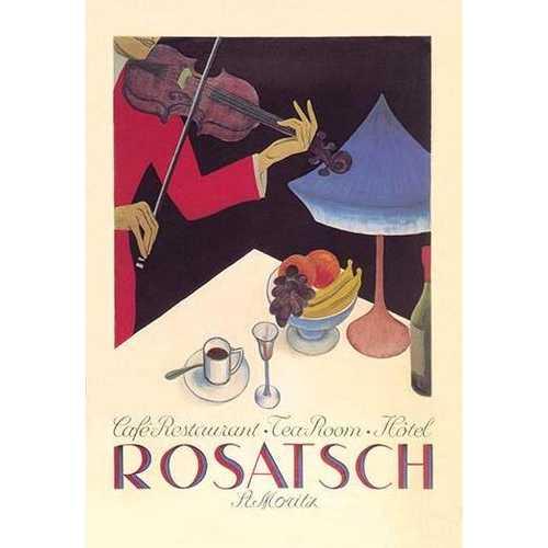 Rosatsch: Caf-Restaurant - Tea Room - Hotel (Canvas Art)