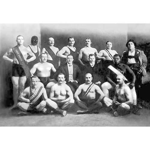 Team of Champion Russian Wrestlers (Canvas Art)