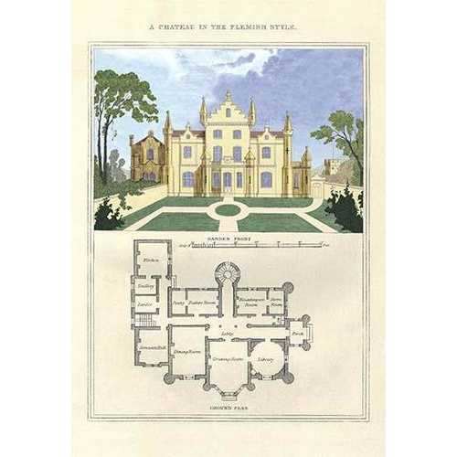 A Chateau in the Flemish Style (Framed Poster)