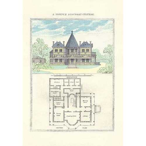 A French Suburban Chateau (Fine Art Giclee)