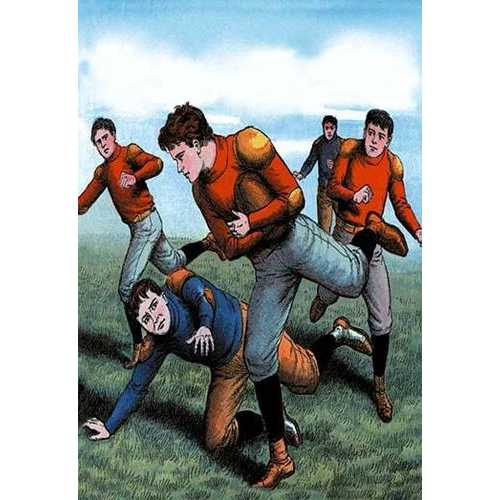 Ball Carrier Eludes the Defender (Canvas Art)
