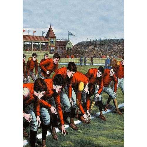 At the Scrimmage Line (Canvas Art)