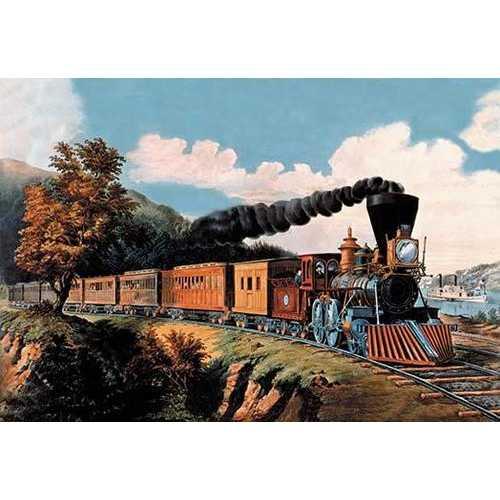 Steam Locomotive (Framed Poster)