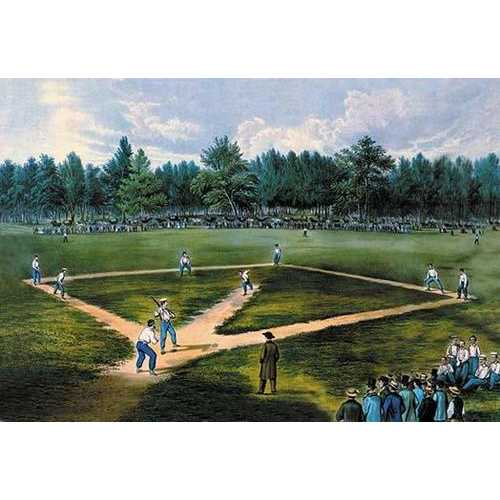 Baseball Diamond (Paper Poster)