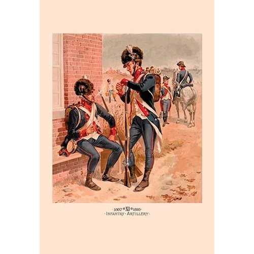 1802-1810 Infantry and Artillery (Canvas Art)