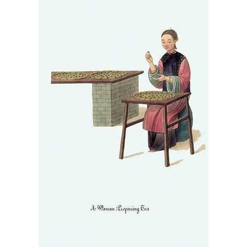 A Woman Preparing Tea (Framed Poster)
