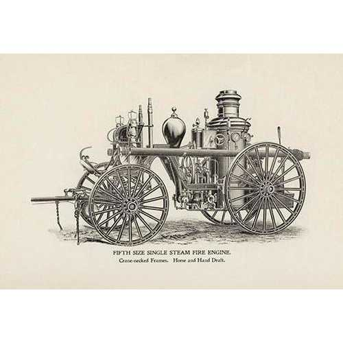 Fifth Size Single Steam Fire Engine: Crane-Necked Frames (Canvas Art)