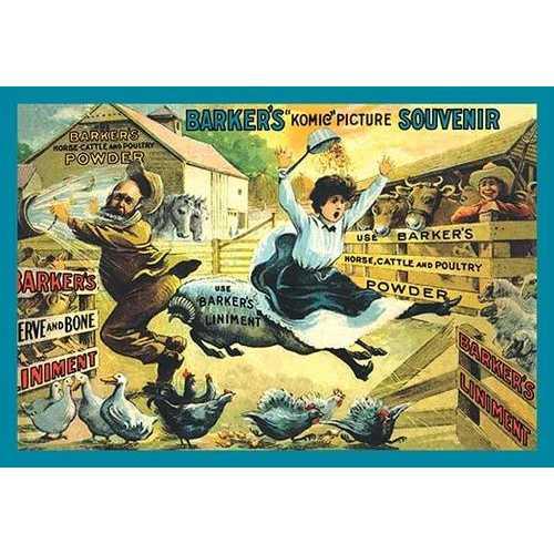 """Barker's """"Komic"""" Picture Souvenir: Farm Ruckus (Paper Poster)"""