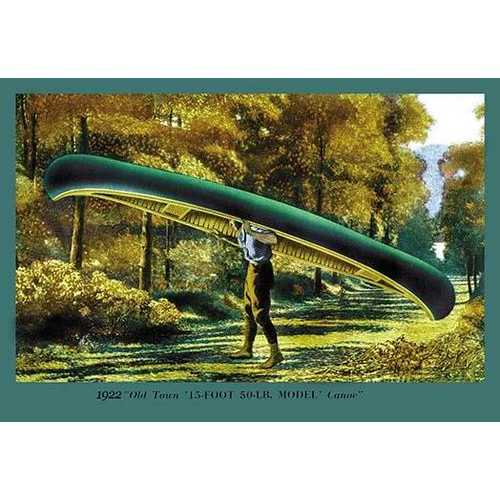 15 Foot 50 Lb. Model' Canoe (Canvas Art)