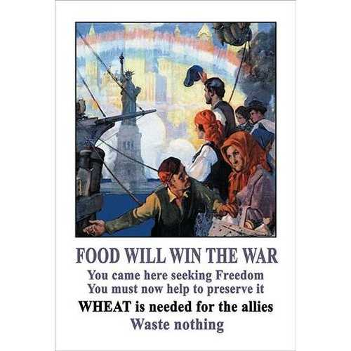 Food Will Win the War (Paper Poster)
