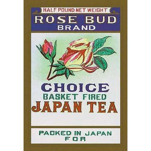Rose Bud Brand Tea (Framed Poster)