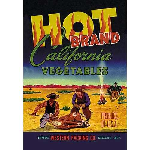 Hot Brand California Vegetables (Paper Poster)