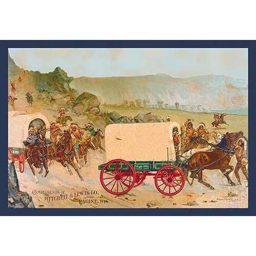 Mitchell Wagon Train (Paper Poster)