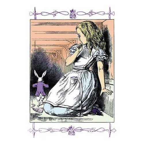 Alice in Wonderland: Alice Watches the White Rabbit (Paper Poster)