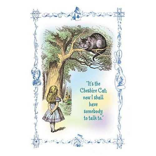Alice in Wonderland: It's the Cheshire Cat (Framed Poster)