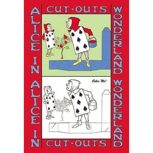 Alice in Wonderland: The Gardeners - Color Me! (Canvas Art)