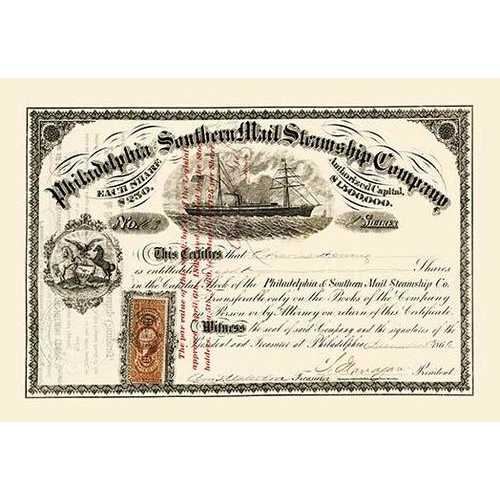 Philadelphia and Sothern Mail Steamship Company (Paper Poster)