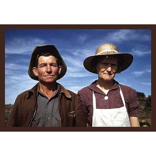 Jim Norris and Wife, Homesteaders (Canvas Art)