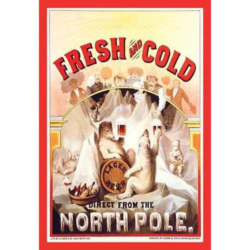 Fresh and Cold - Direct from the North Pole (Fine Art Giclee)