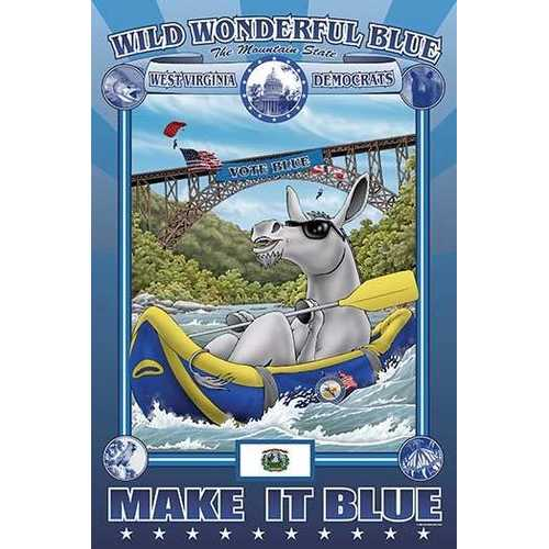 Wild Wonderful Blue - West Virginia (Canvas Art)