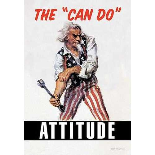"""The """"Can Do"""" Attitude (Paper Poster)"""