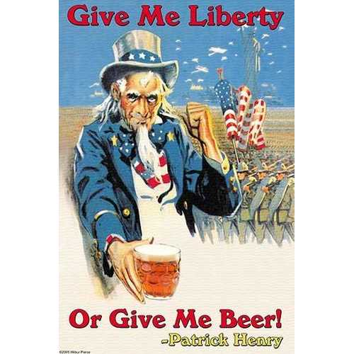 Give Me Liberty of Give Me Beer (Canvas Art)