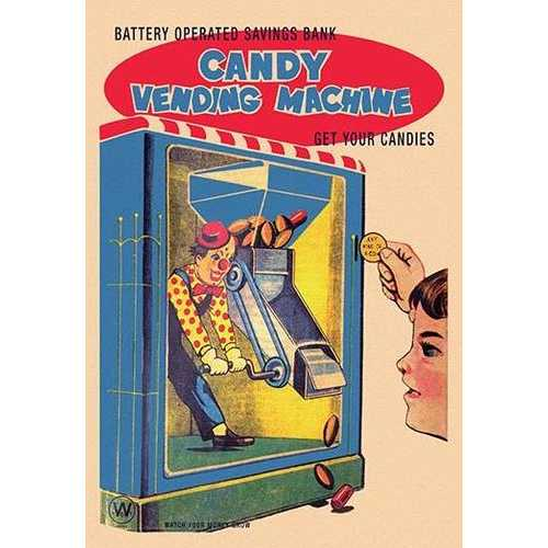 Candy Vending Machine (Paper Poster)