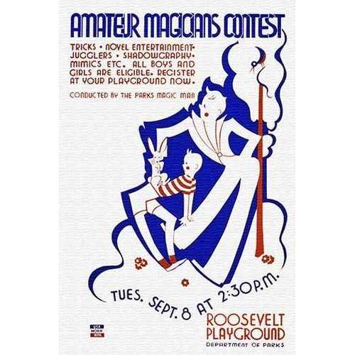 Amateur magicians contest (Framed Poster)