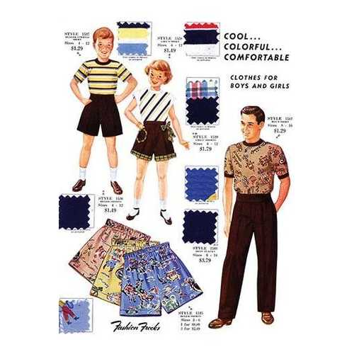 Cool... Colorful... Comfortable Clothes for Boys and Girls (Paper Poster)