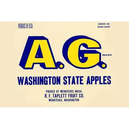 A.G. Brand Washington State Apples (Paper Poster)