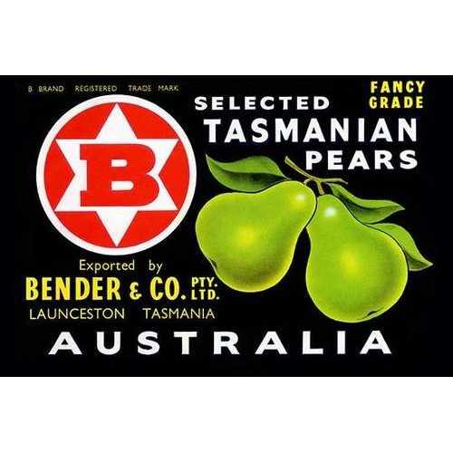 Bender & Co. Selected Tasmanian Pears (Paper Poster)