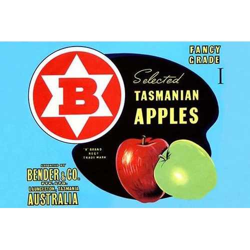 Fancy Grade Selected Tasmanian Apples (Paper Poster)