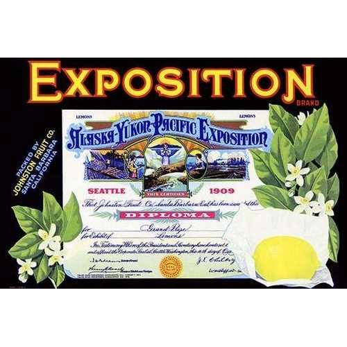 Alaska-Yukon-Pacific Exposition Lemons (Paper Poster)
