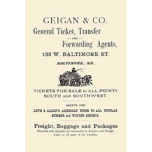 Geigan & Co. General Ticket Transfer & Forwarding Agents (Fine Art Giclee)
