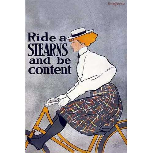 Ride a Stearns Bike and be Content (Framed Poster)