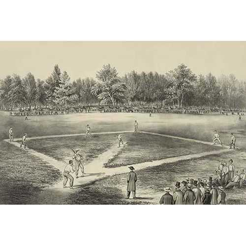 American national game of base ball (Canvas Art)