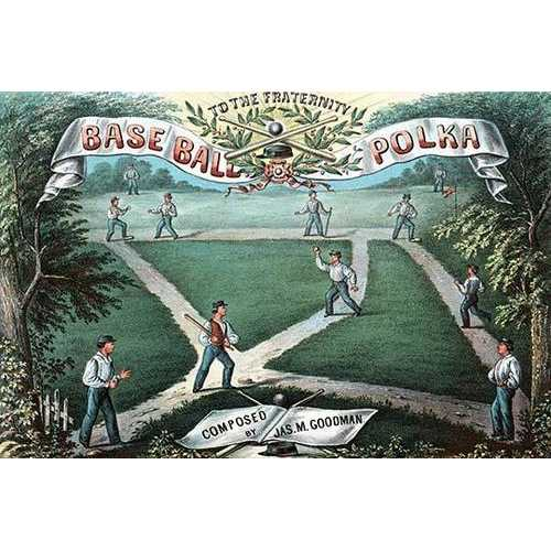 Baseball Polka Music Sheet (Canvas Art)