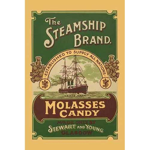 The Steamship Brand Molasses Candy (Paper Poster)