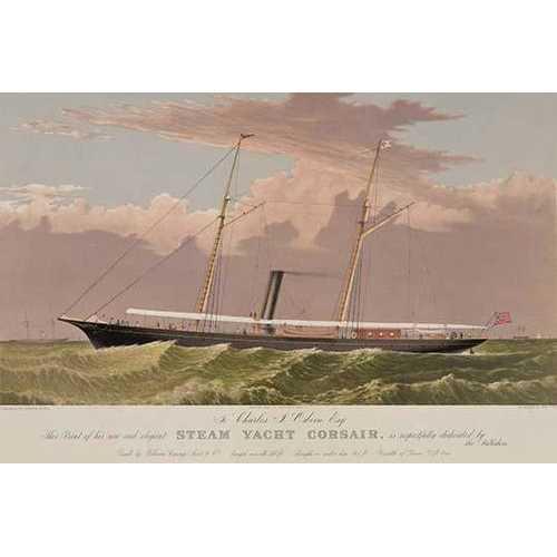 Steam yacht Corsair (Paper Poster)