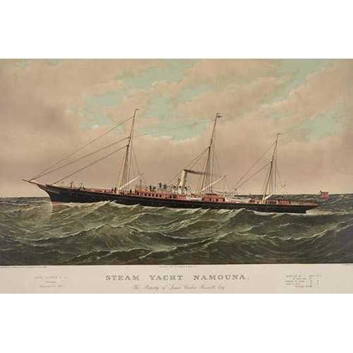 Steam yacht Namouna (Paper Poster)