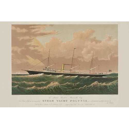 Steam yacht Polynia (Paper Poster)