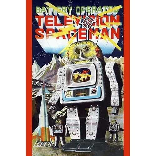 Battery Operated Television Spaceman (Canvas Art)