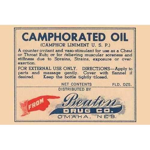 Camphorated Oil - Liniment (Canvas Art)