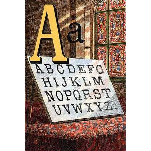 A for the Alphabet, A, B, C (Paper Poster)