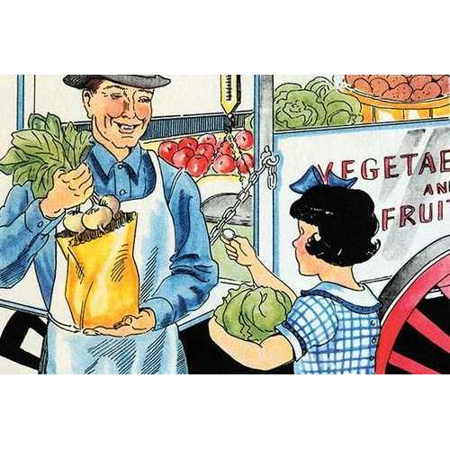 Buying Vegetables (Fine Art Giclee)