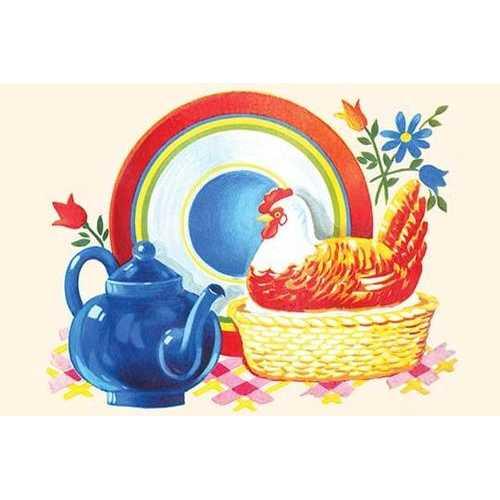 Chicken Casserole Dish and Teapot (Fine Art Giclee)