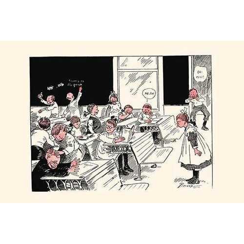 When Teacher Leaves Room (Framed Poster)