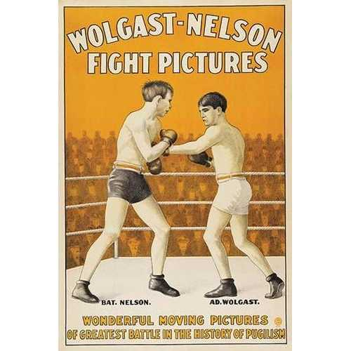 Battling Nelson vs. Ad Wolgast (Canvas Art)