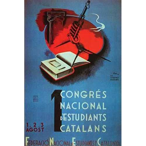 1st National Congress of Catalan Students. (Canvas Art)