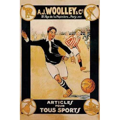 A.J. Woolley & co. Sports Articles (Canvas Art)